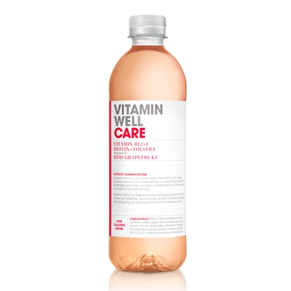 12 x Vitamin Well, 500 ml, Care Röd Grapefrukt