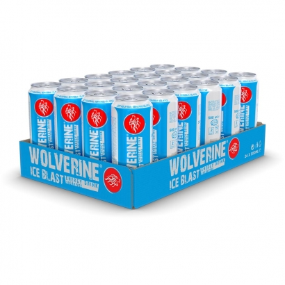 24 x Wolverine Energy Drink, 500 ml, Ice Blast i gruppen Drycker / Energidryck hos Proteinbolaget (PB-14210)