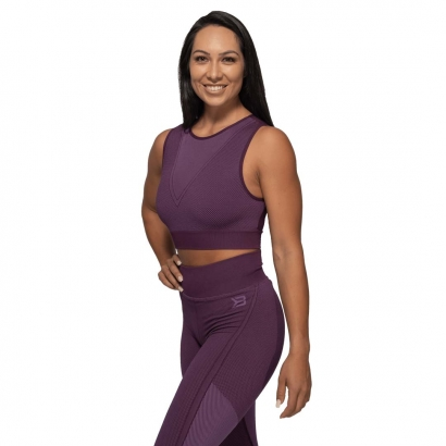 Better Bodies Roxy Seamless Top, Royal Purple i gruppen Träningskläder / Linnen hos Proteinbolaget.se (PB-14211)