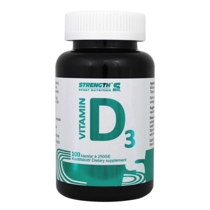 Strength Sport Nutrition Vitamin D3, 100 caps