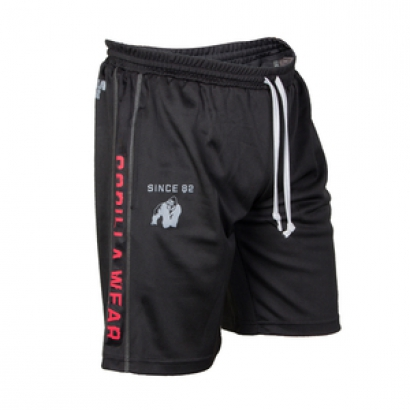 Gorilla Wear Functional Mesh Shorts Svart/Röd