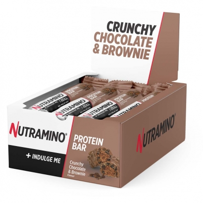 12 x Nutramino Proteinbar, 64 g, Chocolate Brownie