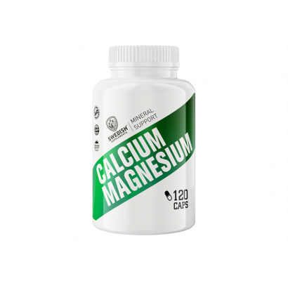 Swedish Supplements Calcium + Magnesium 120caps i gruppen Vitaminer / Mineraler / Mineraler hos Proteinbolaget.se (PB-2441)