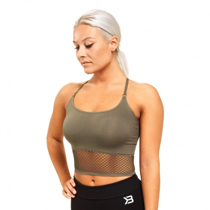 Better Bodies Bronx Seamless Bra, Wash Green