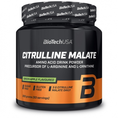 BioTechUSA Citrulline Malate Powder, 300 g, Green Apple