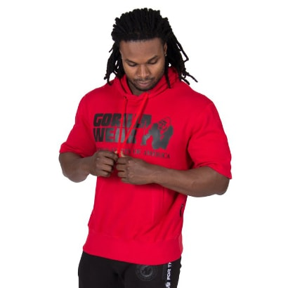 Gorilla Wear Boston Short Sleeve Hoodie, Red