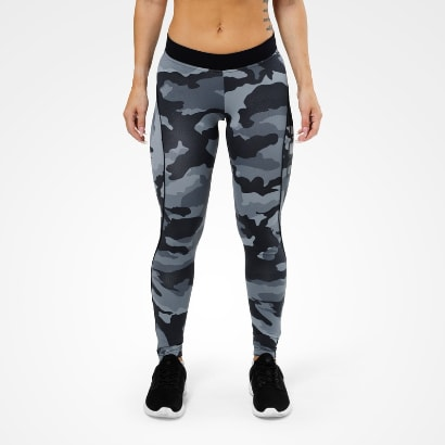 Better Bodies Camo long tights, grey camo print i gruppen Träningskläder / För henne / Tights hos Proteinbolaget.se (PB-35123)