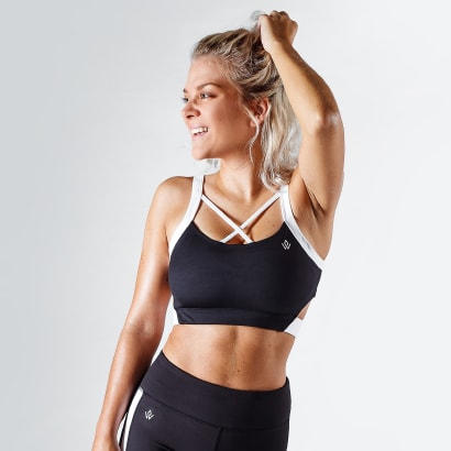 Workout Empire Strike Bra Obsidian Black