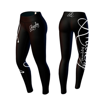 Anarchy Apparel Panthera Leggings Black/White i gruppen Träningskläder / För henne / Tights hos Proteinbolaget.se (PB-3562)