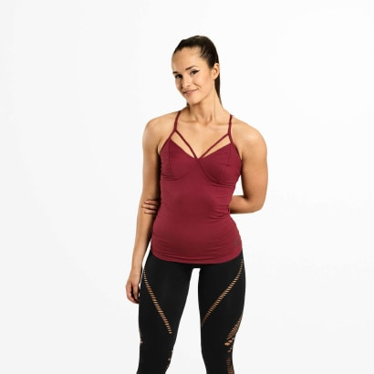 Better Bodies Waverly Strap Top Sangria Red