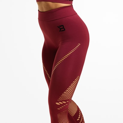 Better Bodies Waverly Tights, Sangria Red i gruppen Träningskläder / Tights hos Proteinbolaget.se (PB-36786)