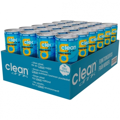 24 x Clean Drink, 330 ml, Ananas/Mango i gruppen Drycker / Energidryck hos Proteinbolaget (PB-3681)