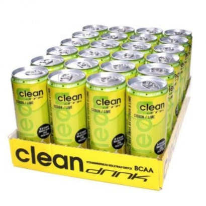 24 x Clean Drink, 330 ml, Citron/Lime (Koffeinfri) i gruppen Drycker / Energidryck hos Proteinbolaget.se (PB-3708)