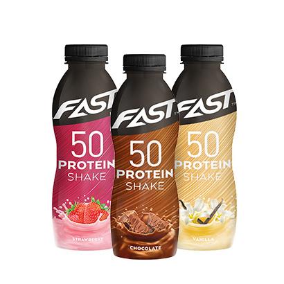 FAST Sport Nutrition 12x FAST Proteinshake 50, 500 ml