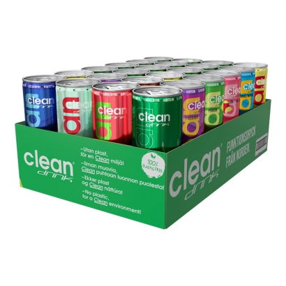 24 x Clean Drink, 330 ml