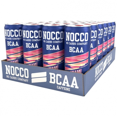 24 x NOCCO BCAA, 330 ml, Miami Summer Edition Strawberry