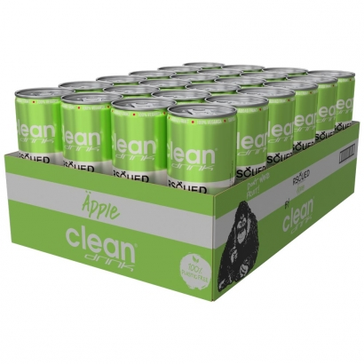 24 x Clean Drink Rscued, 330 ml, Äpple i gruppen Drycker / Energidryck hos Proteinbolaget.se (PB-4375)