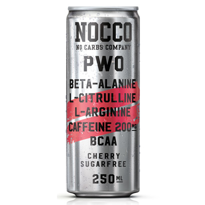 NOCCO PWO, 250 ml, Cherry i gruppen Drycker / Energidryck hos Proteinbolaget.se (PB-4954-2)
