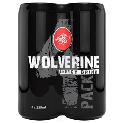 4 x Wolverine Energy Drink 250ml i gruppen Drycker / Energidryck hos Proteinbolaget.se (PB-6191)