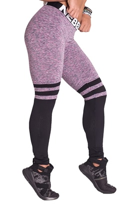 NEBBIA Over The Knee Tights Purple/Black i gruppen Träningskläder / För henne / Tights hos Proteinbolaget.se (PB-6227)