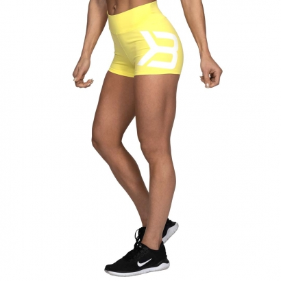 Better Bodies Gracie Hotpants, Lemon Yellow i gruppen Träningskläder / Shorts hos Proteinbolaget.se (PB-65902)