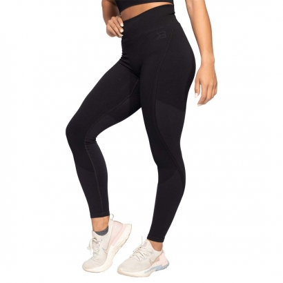 Better Bodies Roxy Seamless Leggings, Black & Dark Navy i gruppen Träningskläder / Tights hos Proteinbolaget.se (PB-6722)