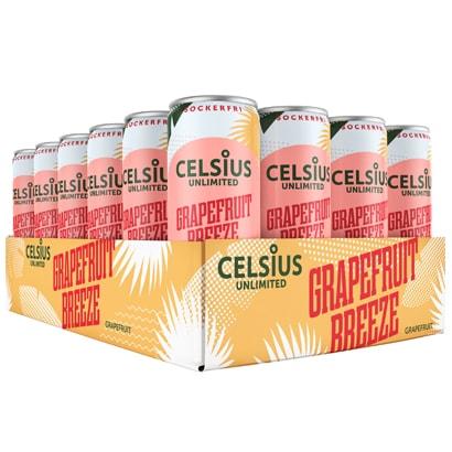 24 x Celsius Unlimited, 355 ml, Grapefruit Breeze