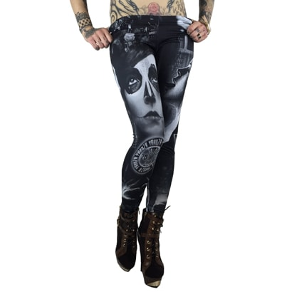Yakuza Mexican Tights Black/White