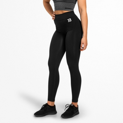 Better Bodies Rockaway Leggings, Black i gruppen Träningskläder / Tights hos Proteinbolaget (PB-731)