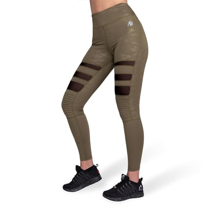 Gorilla Wear Savannah Biker Tights, Army Green Camo i gruppen Träningskläder / Tights hos Proteinbolaget (PB-7479)