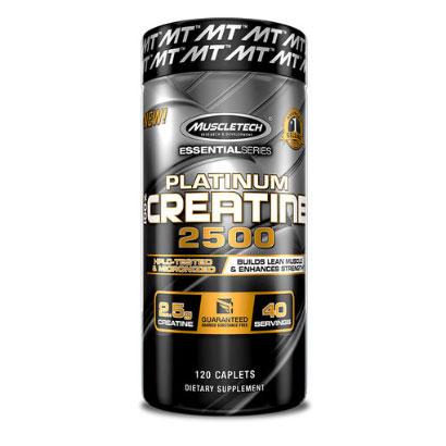 Muscletech 100% Platinum Creatine 2500, 120 caps