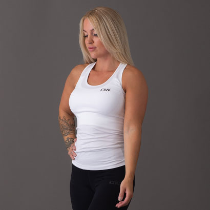 ICANIWILL Seamless Tank Top, White