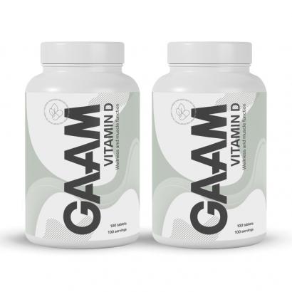 GAAM Nutrition Health Series Vitamin-D, 200 caps
