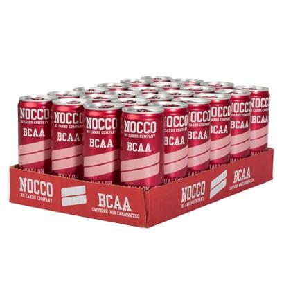 24 x NOCCO BCAA, 330 ml, Hallon (ej kolsyrad)