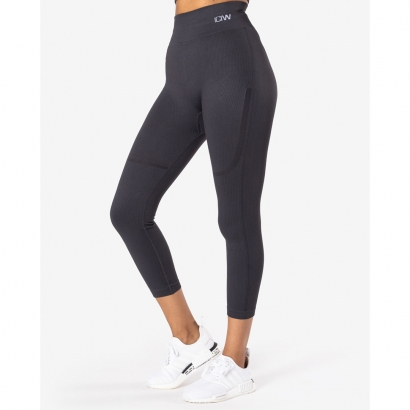 Aimn White Ribbed Seamless Crop Long Sleeve