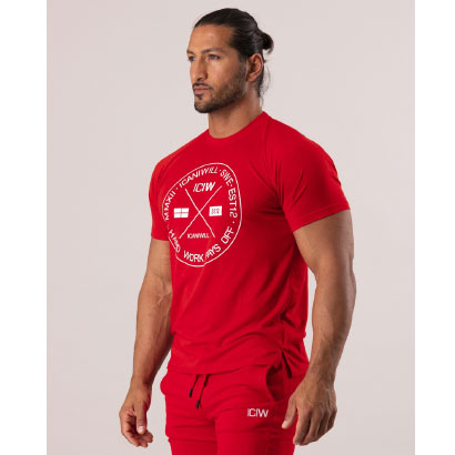 ICANIWILL Training T-shirt V2, Red