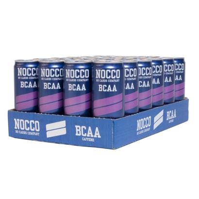 24 x NOCCO BCAA, 330 ml, Cassis
