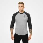 Better Bodies Mens Baseball Tee Greymelange Antracite