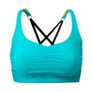 Athlete Short Top, Aqua Blue