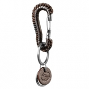 GASP Braided Keyclip, Dark Brown