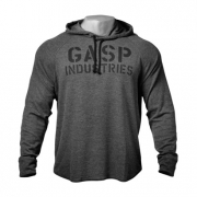 Gasp Long Sleeve Thermal Hoodie Antracite Melange