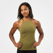 Better Bodies Performance Halter Military Green