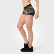 Fitness Hotpant, Green Camoprint