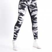 NEBBIA Camo 2-Color Tights Grey Camo/Black