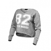 Better Bodies Cropped Sweater Greymelange