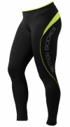Better Bodies Fitness long tights, Black/Lime