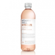 Vitamin Well Hydrate Rabarber Jordgubb, 500ml