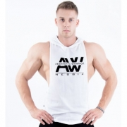 NEBBIA AW Hooded Tank Top White