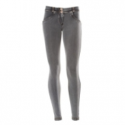 Freddy WR.UP® LOW WAIST SKINNY Denim effect - J3Y - Washed Grey - Yellow Seam