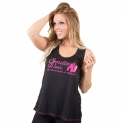 Gorilla Wear Odessa Cross Back Tanktop Black/Pink
